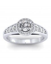 1.37 carat 18K White Gold - Azzario Engagement Ring