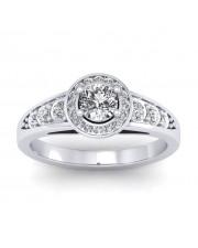 1.07 carat Platinum - Azzario Engagement Ring