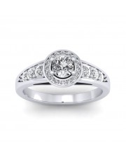0.62 carat Platinum - Azzario Engagement Ring