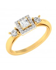 0.77 carat 18K Yellow Gold - Celina Princess Engagement Ring