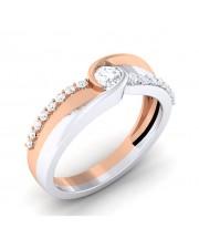 0.38 carat 18K White & Rose Gold - Giselle Engagement Ring