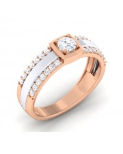 0.48 carat 18K White & Rose Gold - Naysha Engagement Ring