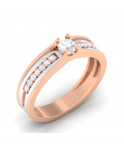 0.34 carat 18K White & Rose Gold - Tiana Engagement Ring