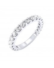 White Gold U Prong 3/4 Eternity Ring - 5 cent diamonds