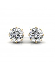The Classic Solitaire Stud Earrings