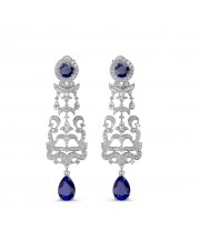 The Irina Chandelier Earrings - White