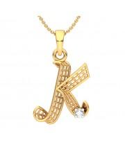 The 'K' Alphabet Pendant