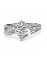 0.51 carat 18K White Gold - Elisa Engagement Ring