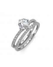 The Elegant Engagement Ring with Wedding Band