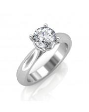 0.30 carat 18K White Gold - Classic Engagement Ring