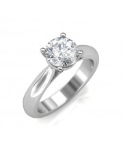 0.50 carat 18K White Gold - Classic Engagement Ring
