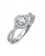 0.74 carat 18K White Gold - Zara Engagement Ring