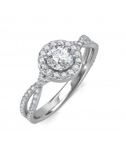 0.95 carat 18K White Gold - Zara Engagement Ring