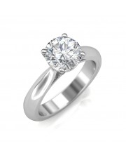 1.00 carat 18K White Gold - Classic Engagement Ring