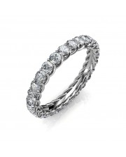 Astraea Platinum Full Eternity Ring - 5 cent diamonds