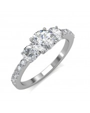 1.05 carat 18K White Gold - Eternal Love Engagement Ring
