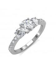 0.85 carat 18K White Gold - Eternal Love Engagement Ring