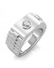 The Leopold Ring For Him - Platinum - 0.25 carat