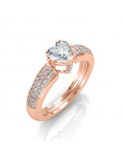 The Beautiful Heart Solitaire Ring