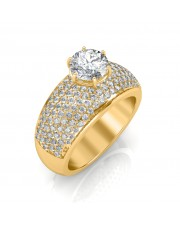 The Majestic  Solitaire Ring