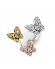 The Trio Butterfly Ring