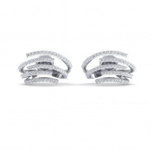 The Astra Huggie Diamond Earrings