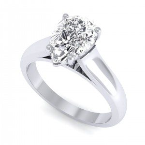 0.70 carat 18K White Gold - Avalush Pear Ring