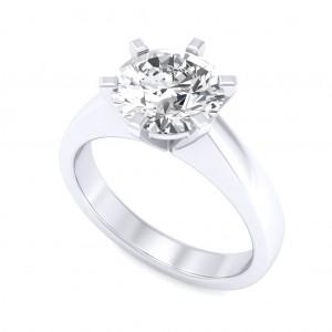 1.00 carat Platinum - Neo Six-Prong/Six-Claw Engagement Ring