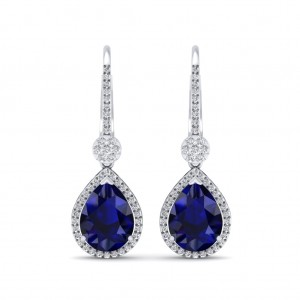 The Azure Dangler Diamond Earrings