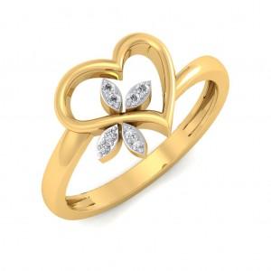 The Clover Heart Diamond Ring