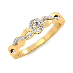 The Wave Diamond Ring