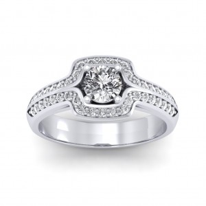0.80 carat 18K White Gold - Amanda Engagement Ring