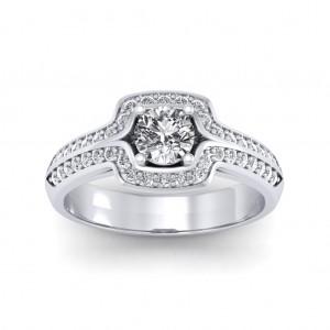 0.60 carat 18K White Gold - Amanda Engagement Ring