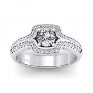 1.30 carat 18K White Gold - Amanda Engagement Ring