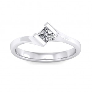 0.30 carat 18K White Gold - Elegant Princess Engagement Ring