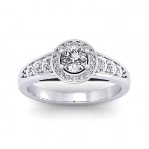 0.62 carat 18K White Gold - Azzario Engagement Ring