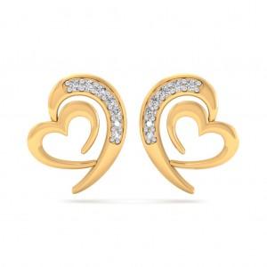 The Ria Heart Earrings
