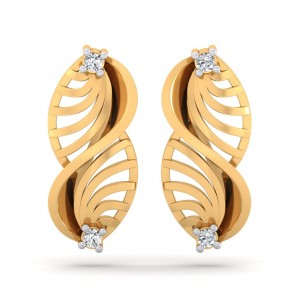 The Boteh Cut-out Diamond Earrings