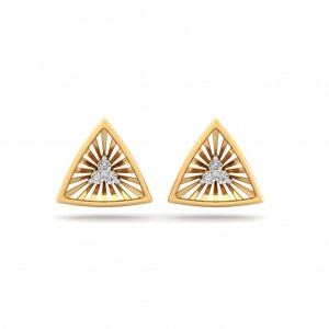 The Nova Triangle Diamond Earrings