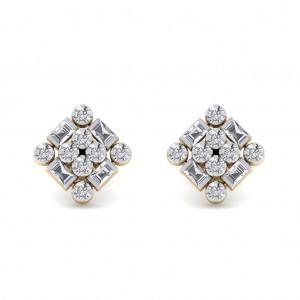 Square Diamond Earring