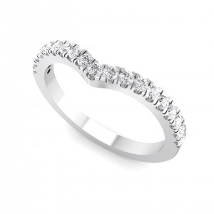 Platinum Beliso Half Eternity Ring