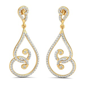 The Stella Diamond Long Earrings