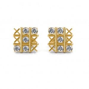 The CrissCross Diamond Earrings