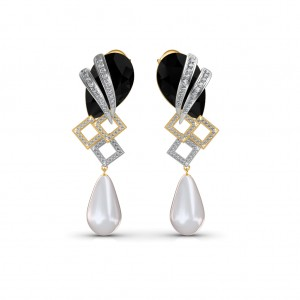 The Elegant Onyx Diamond Earrings