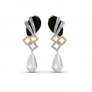 The Elegant Onyx Diamond Earrings