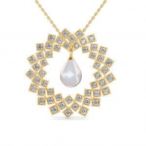 The Kara Pearl Diamond Pendant