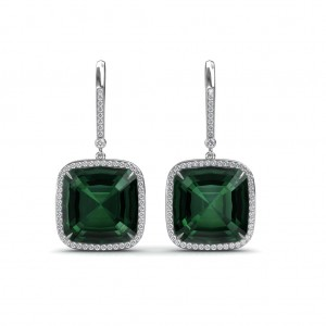 The Green Dazzle Diamond Earrings