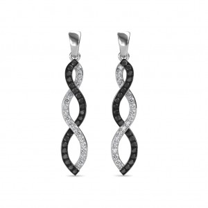 The Ezra Black Diamond Long Earrings
