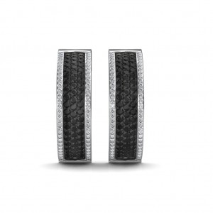 The Belize Black Diamond Hoop Earrings