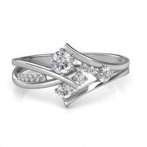 0.51 carat 18K White Gold - Elisa Engagement Ring